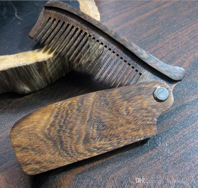 Hot madeira Dobrável Comb Anti-Static Combs Portátil Dobrável Styling Cabeleireiro Escova de Cabelo Pentear