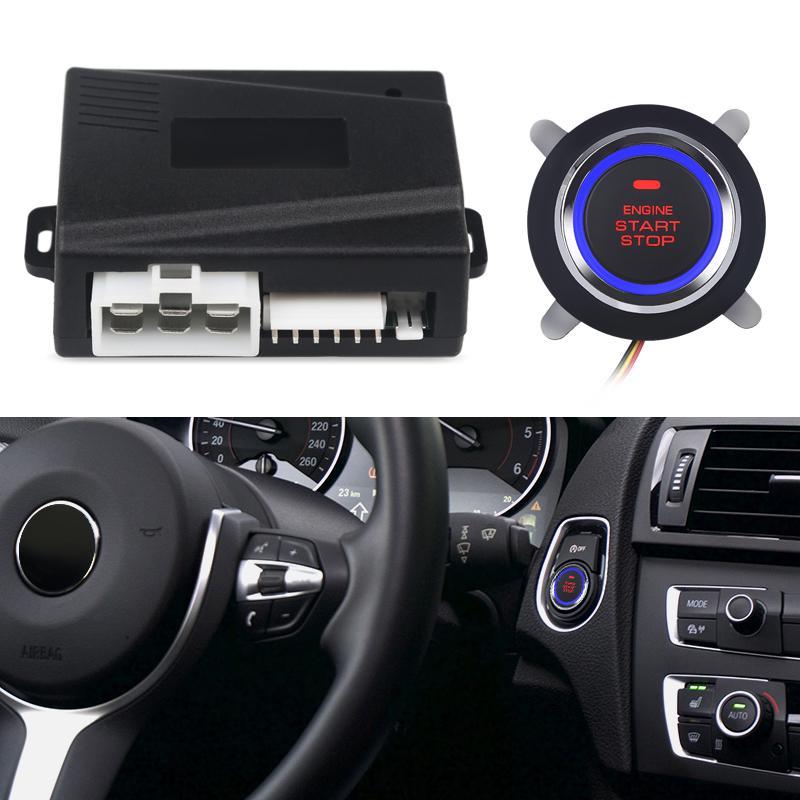 Universal Car Start Stop Botão Car Engine Start botão de controlo remoto de arranque Keyless Entry Parar Imobilizador