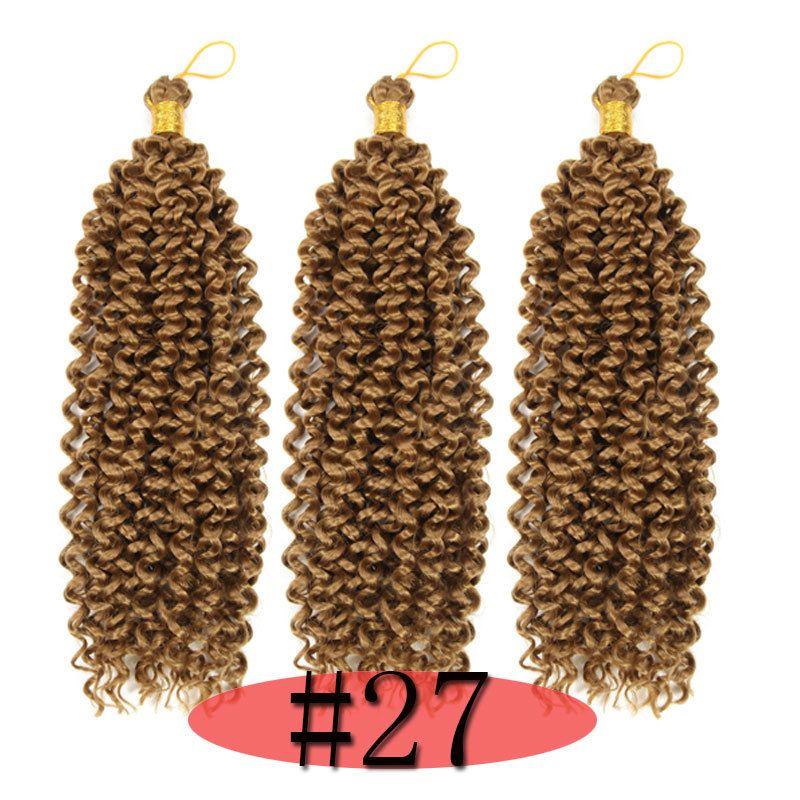 Синтетическое высокого качество плетения завитых Ombre блондина Цвета Freetress крючок волна воды 100g Синтетический Extensions волос