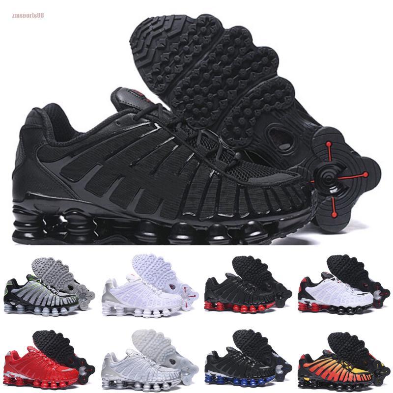 Nike air max Shox Высокое качество tl мужские кроссовки дышащие кроссовки черный белый открытый ходьба спорт chaussures R4 тренеры