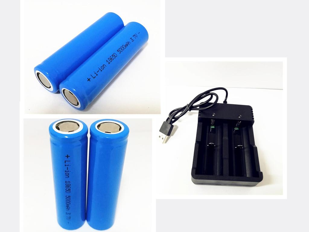 쉐이드 리튬 이온 18650 3.7V 5000MAH 플랫 헤드 / 뾰족한 전지 2 + 1 개 슬롯 USB 충전기. 26650 18650 18350 16340 chahge에 대한 충전기