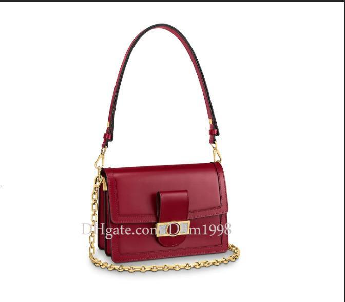 Dhm1998 neuer Herbst und Winter neue Damen M55837 MINI Handtasche freies Leder Verarbeitung rot Schultertasche Kette Tasche Umhängetasche
