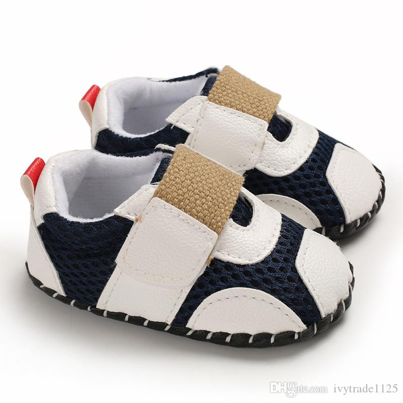 3 colors new arrivals Soft bottom Anti-skid PU baby First Walkers Spring Fall Boy baby First Walkers shoes