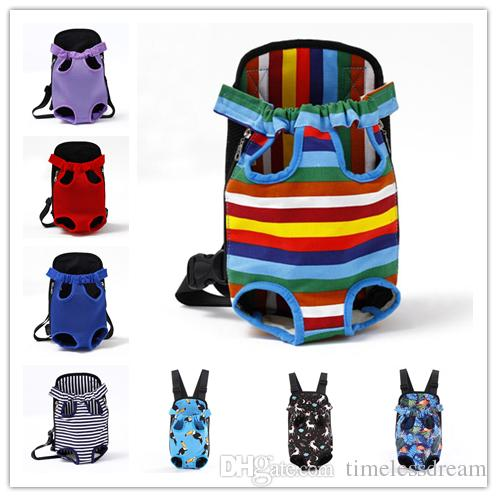 Outdoor Travel Pet Dog Carrier Cat Front Chest Backpack Canvas Dog Bag Tote Bags For Cat Puppy Pet Supplies