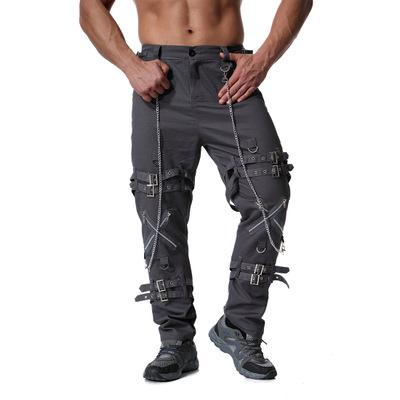 toptan küçük pantolon fermuarı 2020 Erkekler tasarımcı kot cadde sıkıntılı marka kot jogging yapan streç eğilim diz deliği