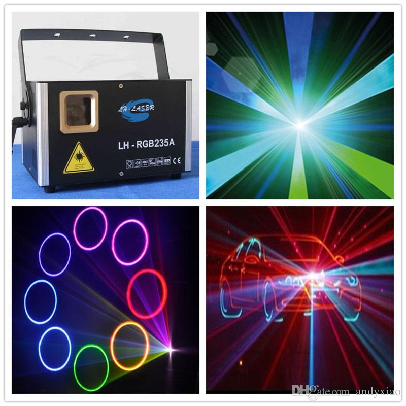 Free Shipping ILDA+RJ45+DMX512 new product 1500mW RGB full color Animation analog laser light with SD card+Beam