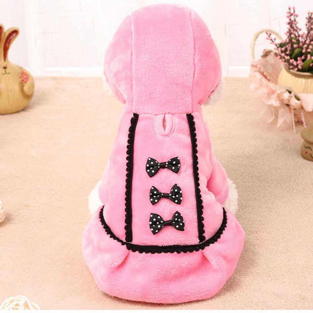 Petccircle rosa ropa de perro vestido de invierno chaqueta de perros con perros arco mascotas ropa para niños para pequeñas suministros medianos grandes
