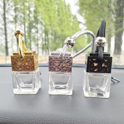 Uçucu Yağlar Yayıcı Parfüm için Hava Tazeleyicisi Asma Araç Parfüm Şişesi Dikiz Süsleme Cam Şişe kolye EEA643 boşaltın