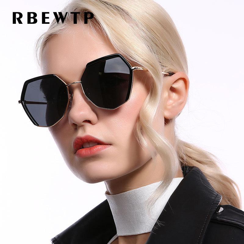 Atacado design retro polarizada óculos de sol das mulheres de condução liga frame polígono espelho óculos de sol uv400 gafas de sol para senhoras