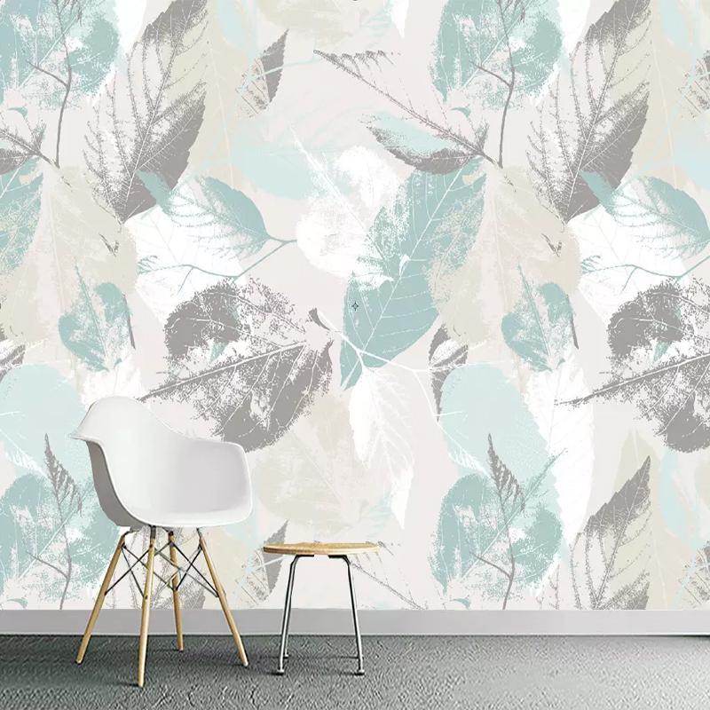 3D sur mesure Photo Wallpaper Rouleau nordique Feuilles modernes feuilles Pétales TV 3D Living Room mur non-tissé étanche Revêtement mural mur