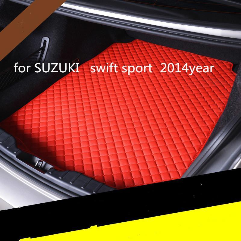 carro couro tapete mat tronco costume anti-skid adequado para Suzuki Swift sport 2014 anos carro tapete anti-derrapante