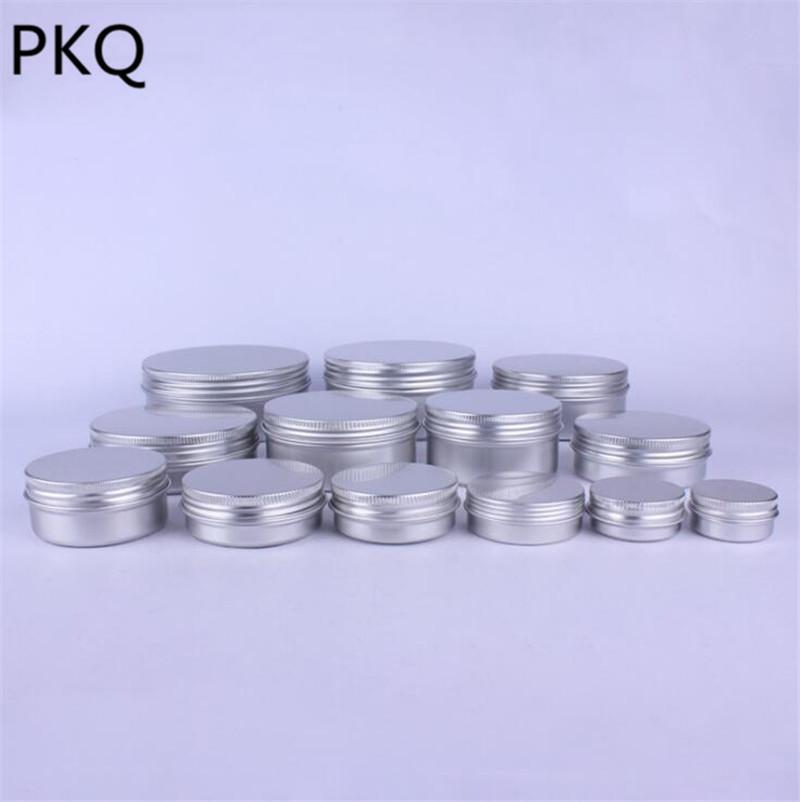 50pcs vide pot en aluminium étain cosmétiques contenants à lèvres décorations d'ongles pot d'artisanat 10 ml / 15 ml / 25 ml / 30 ml / 50 ml / 80 ml / 100 ml / 120 ml / 150 ml