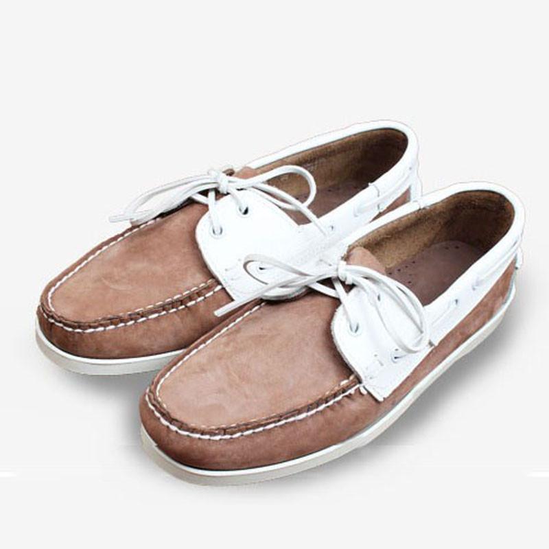 Dockside Schuhe Herren Leder Mode Flache Turnschuhe für Männer Boot Shose Männer 12 # 25 / 20d50