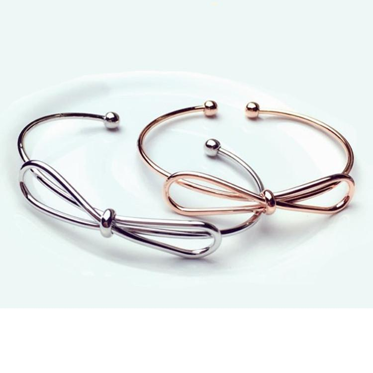 Brazalete de apertura de metal arco pulsera brazalete de oro rosa pulsera venta al por mayor envío gratisJM002