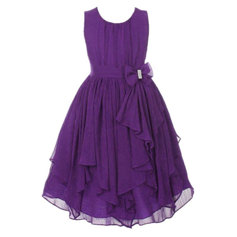 New Girls Summer Chiffon Clothing Dress Children Kids Teen Princess Elegant Wedding Prom Party Junior Teenager Outfit J190505