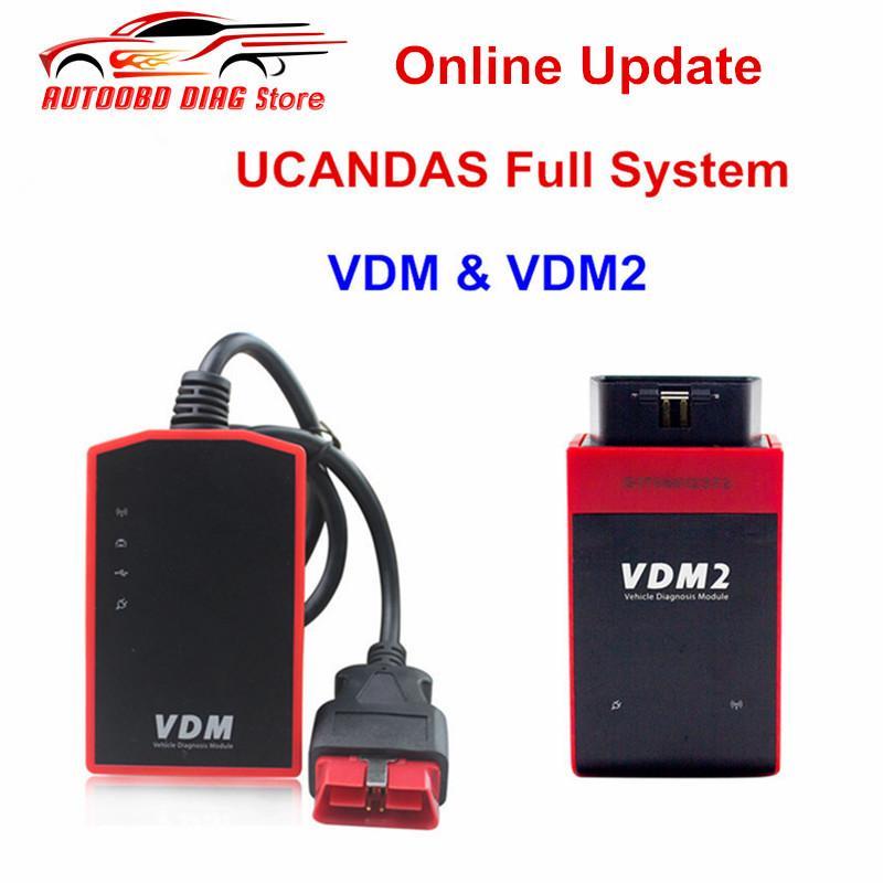 100% Original Full System WIFI UCANDS VDM V3.9 & UCANDAS VDM2 V5.2 Auto OBD2 Scanner Updated Online Support Multi-languages