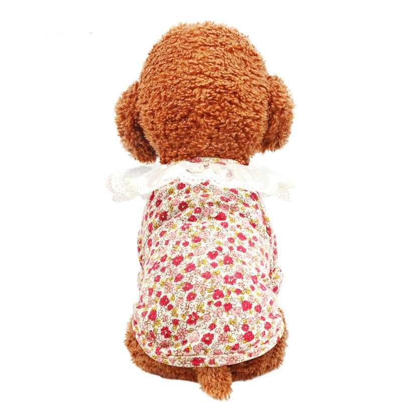 Hot Sale Pet Summer Two-legged Clothing Court Small Floral Lace Lace Shirt Small Pet Clothes Teddy Dog Costume