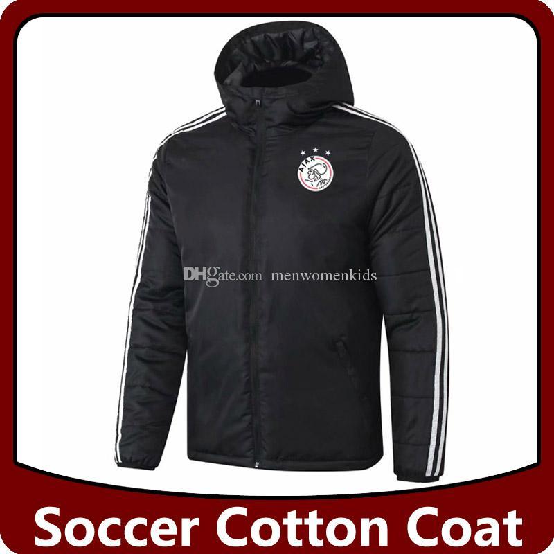 ajax cappotto Cotton calcio piumini, giacche ajax felpa con cappuccio in cotone di calcio Giacche Tute cappotto invernale giacca a vento tuta in corso
