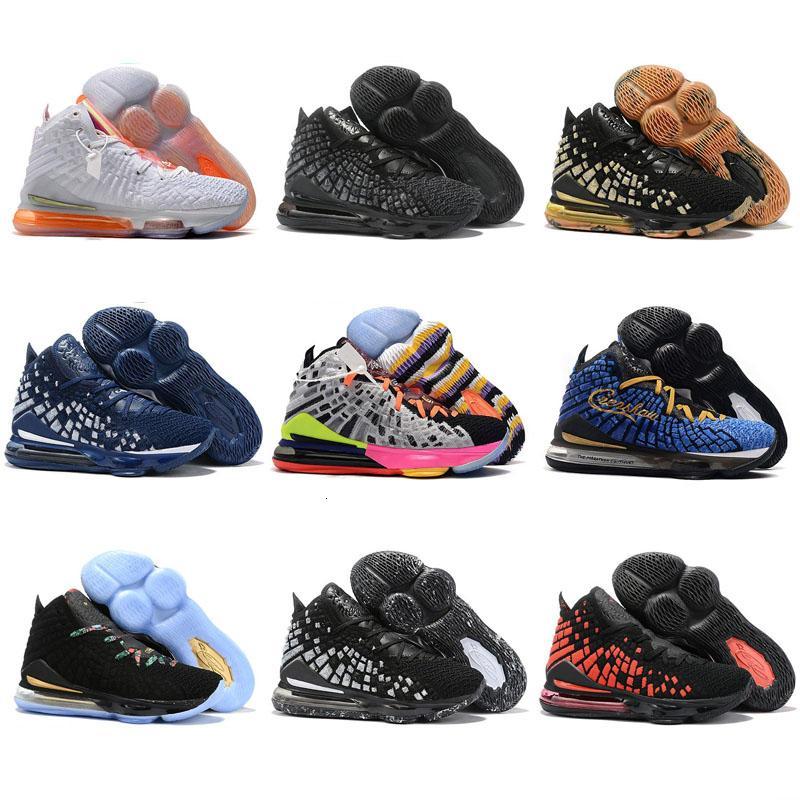 2020 NUEVOS zapatos 17 XVII futuro Lakers Berenjena de baloncesto del Mens Igualdad Oreo Bred James 17 para hombre Blanco y Negro Deportes zapatillas de deporte