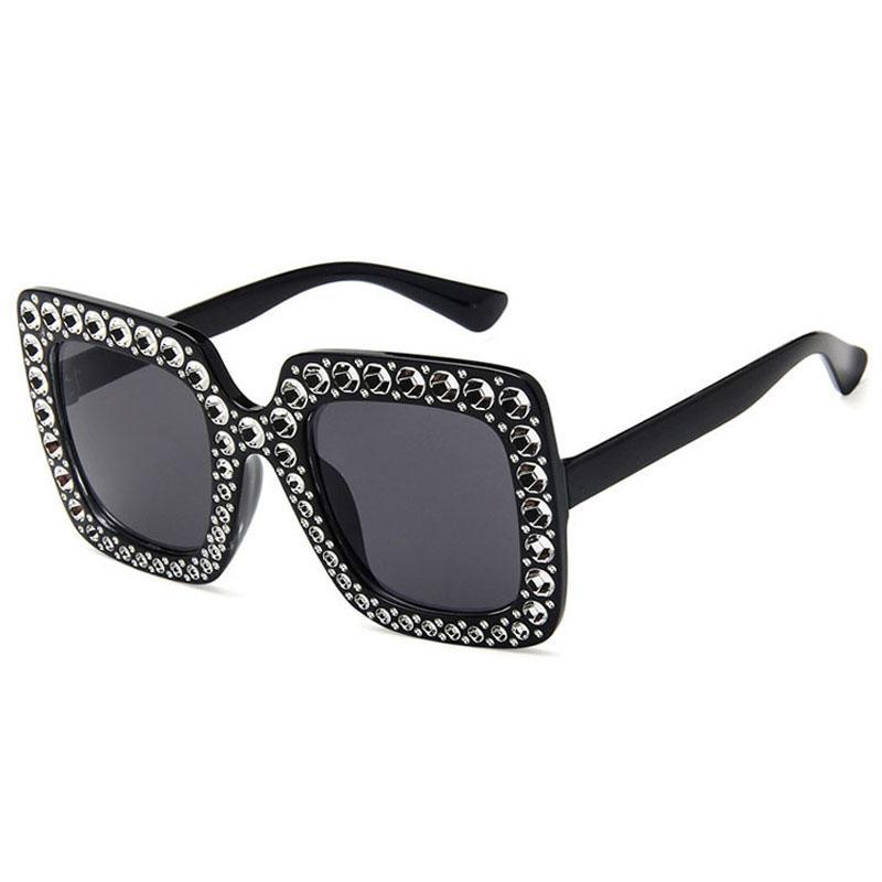 Occhiali da sole per le donne di Lusso Occhiali Da Sole di Modo Delle Donne Occhiali Da Sole Donna Vintage Occhiali Da Sole alla moda delle signore di grandi dimensioni Occhiali Da Sole Del Progettista 5K7D02