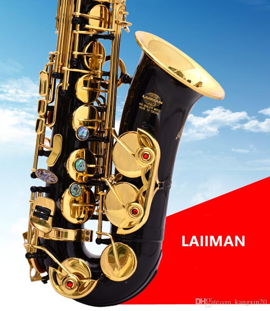 L'alta qualità nuova Lehmann E-Flat Alto Strumenti musicali sassofono nero laccato Tasto dell'oro di trasporto professionale