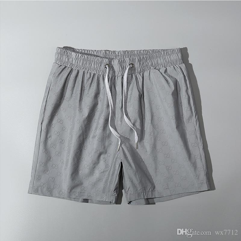 Mayor del verano forman los cortocircuitos Nuevo diseño de la placa corta de secado rápido traje de baño de la impresión Junta pantalones de la playa de los hombres pone en cortocircuito para hombre