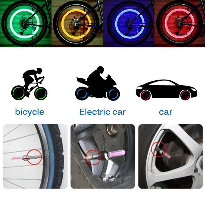 Fahrrad Lichter Rad Speichen Lampe LED Motor Ventil Lichtreifen Reifen Mütze MTB Bike Beleuchtung Motorrad Zubehör