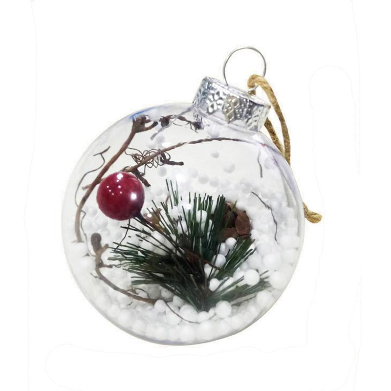 Boules de Noël Arbre de Noël Transparent Goutte Ornements Pendentif Noël Hanging Boule Décor