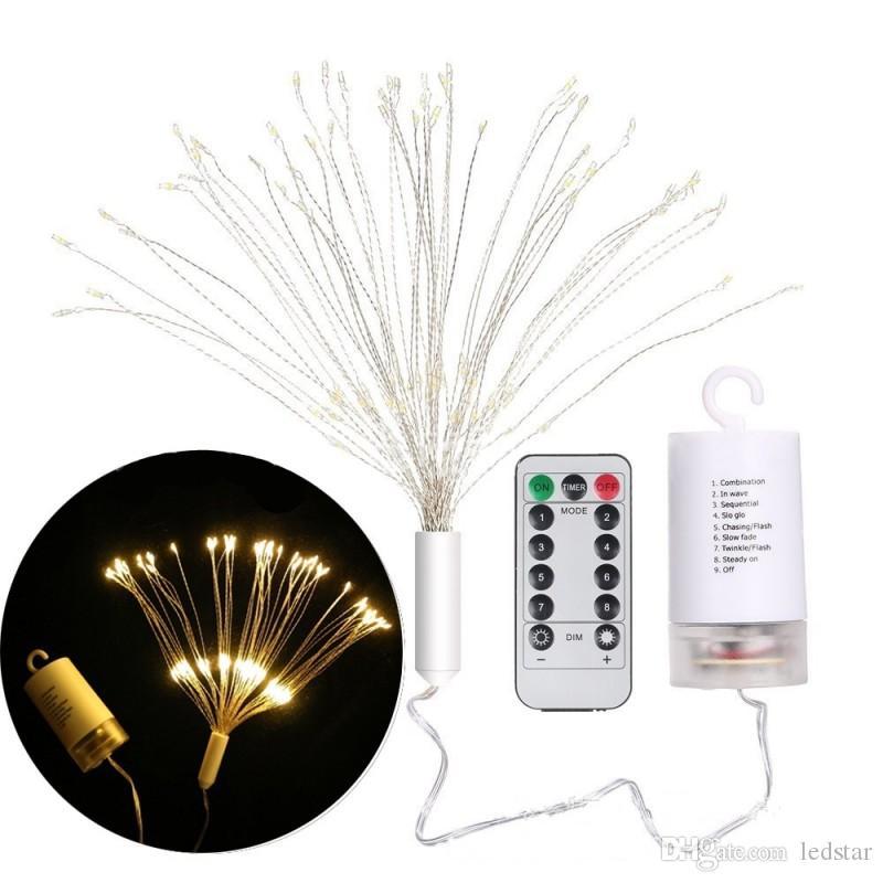 Appeso pieghevole LED filo di rame String luce fai-da-te Fata Firework Holiday Garland Natale lampada Decorazione esterna luce scintillio