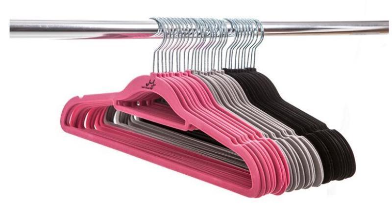 미끄럼 방지 MF 매직 행거 얇은 옷 벨벳 옷걸이 공간 저장 옷장 스토리지 가정 도우미 높은 품질