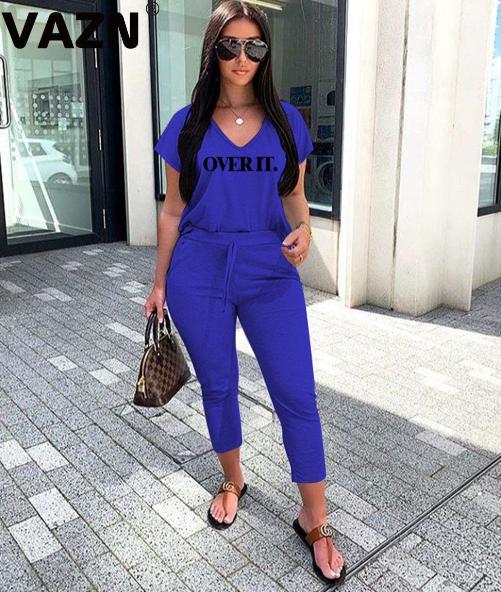 toptan 2020 Kadınlar Vital Dikişsiz Letter Set Gym Giyim Spor Tozluklar + Kırpılmış Gömlek Spor Suit Kadın Kısa Kollu Eşofman