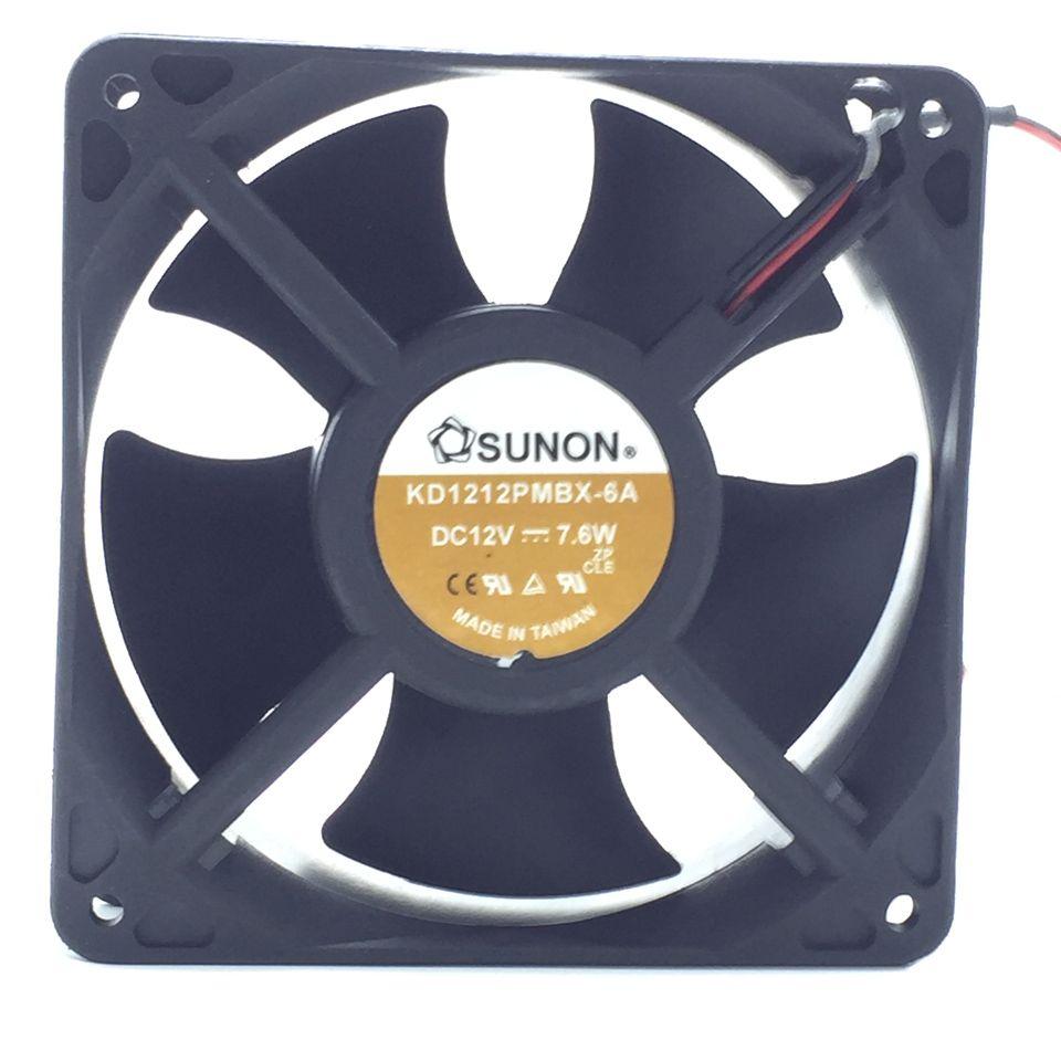 KD1212PMBX-6A fan Original SUNON 7.6W 12038 120*120*38MM 2 wire fan server inverter axial cooling fan