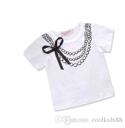Детская одежда для девочек летняя хлопчатобумажная футболка с коротким рукавом печатные топы малыш девушки летняя одежда дети дети повседневная одежда