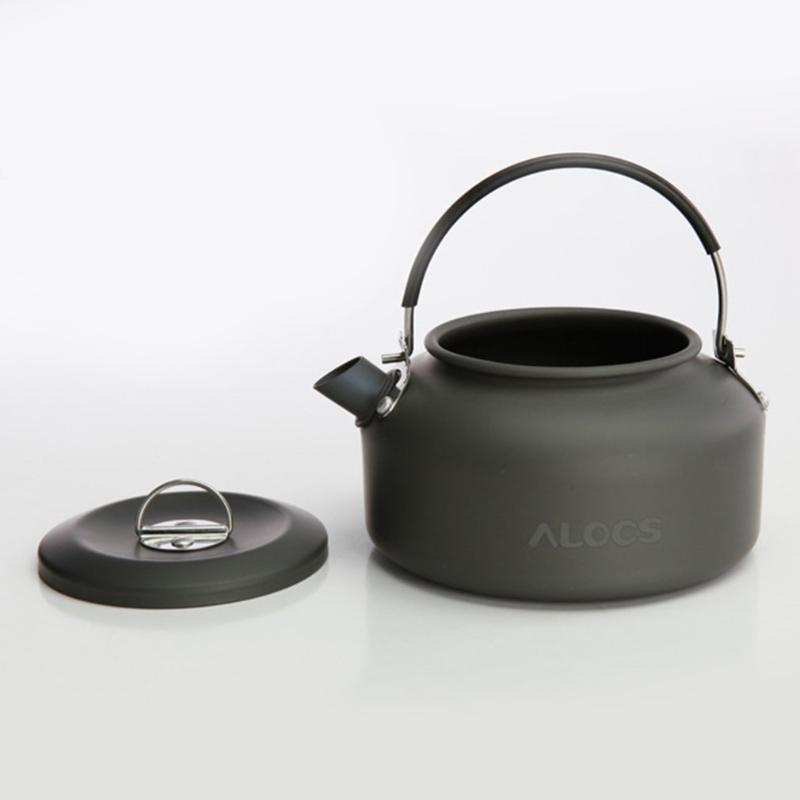 ALOCS CW-K02 الترا خفيفة الوزن تجهيزات المطابخ التخييم في الهواء الطلق غلاية القهوة وعاء 0.8L للصيد التخييم