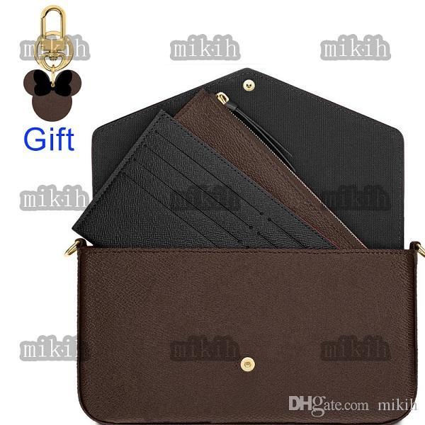 Alta qualidade senhora bolsa de ombro clássico padrão três peça moda mulheres sacos mini lazer ao ar livre senhoras bolsa