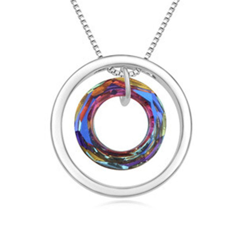 Cristal rodada do austríaco Mulheres Colares do clássico jóias de alta qualidade marca de moda Acessórios presente 17504