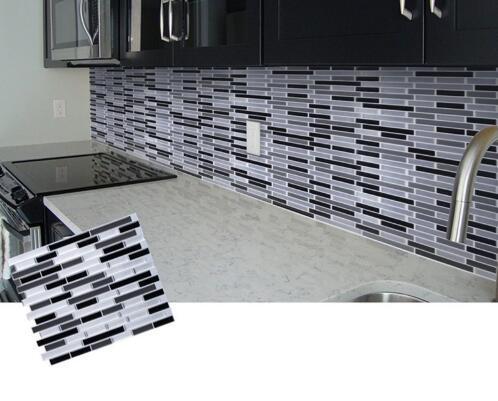 Mozaik Kendinden Yapışkanlı Kiremit Backsplash Duvar Sticker Banyo Mutfak Ev Dekor DIY W4