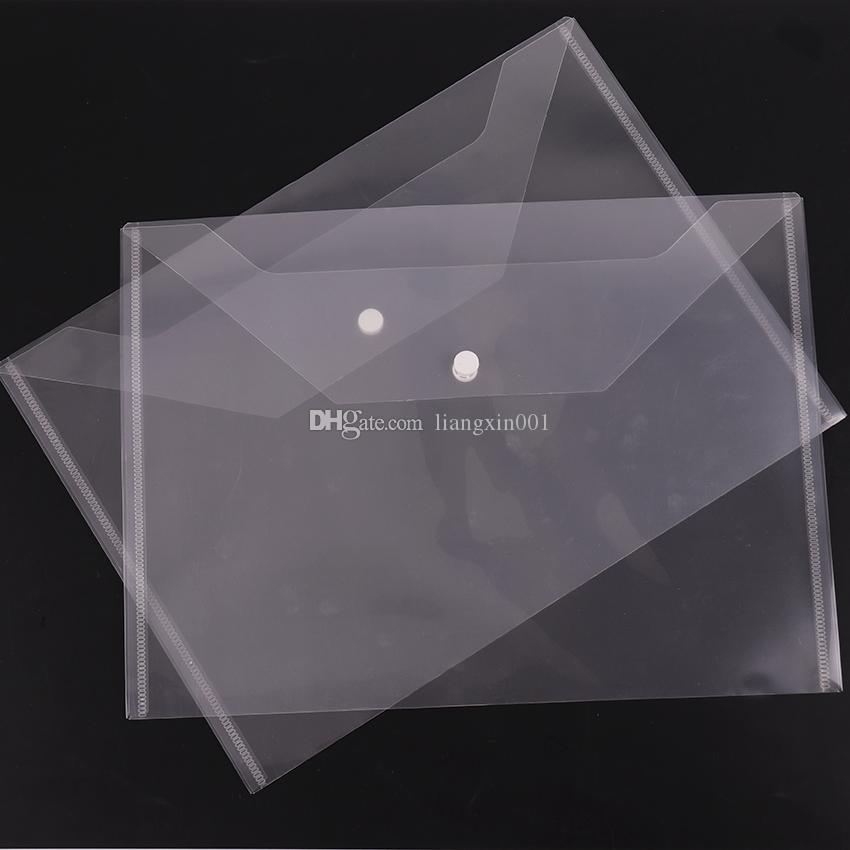 كبير مجلدات شفاف الملف البلاستيك A4 مجلدات حقيبة وثيقة حقائب عقد المجلدات إيداع ورقة التخزين مدرسة اللوازم المكتبية إغلاق