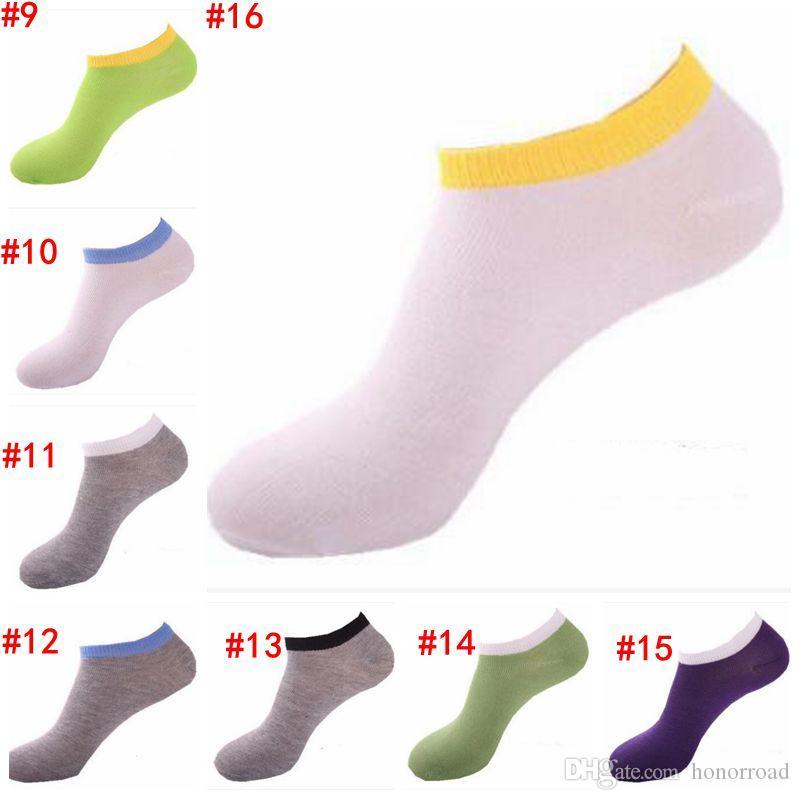 Мужские носки Невидимые Летняя Твердая Носок Тапочки хлопок Тонкие Судовые носки Calcetines вскользь чулочно-носочные изделия Обрезной белье CYL-B5772