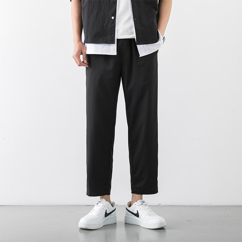 loose pantaloni tuta rette di tendenza maschile uomini pantaloni casual Hong Kong vento Wei 2020