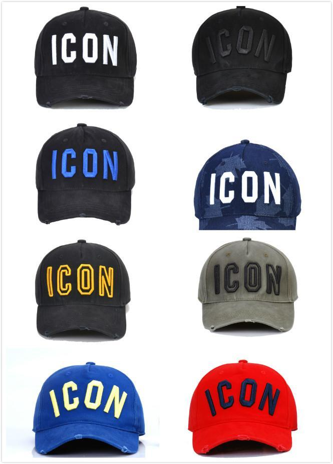 wholesale D2 Washed Cotton Baseball Cap ICON Letters Baseball Caps Snapback Hat For Men Women Dad Hat Embroidery Casual Cap 2020 hot 5wdsa