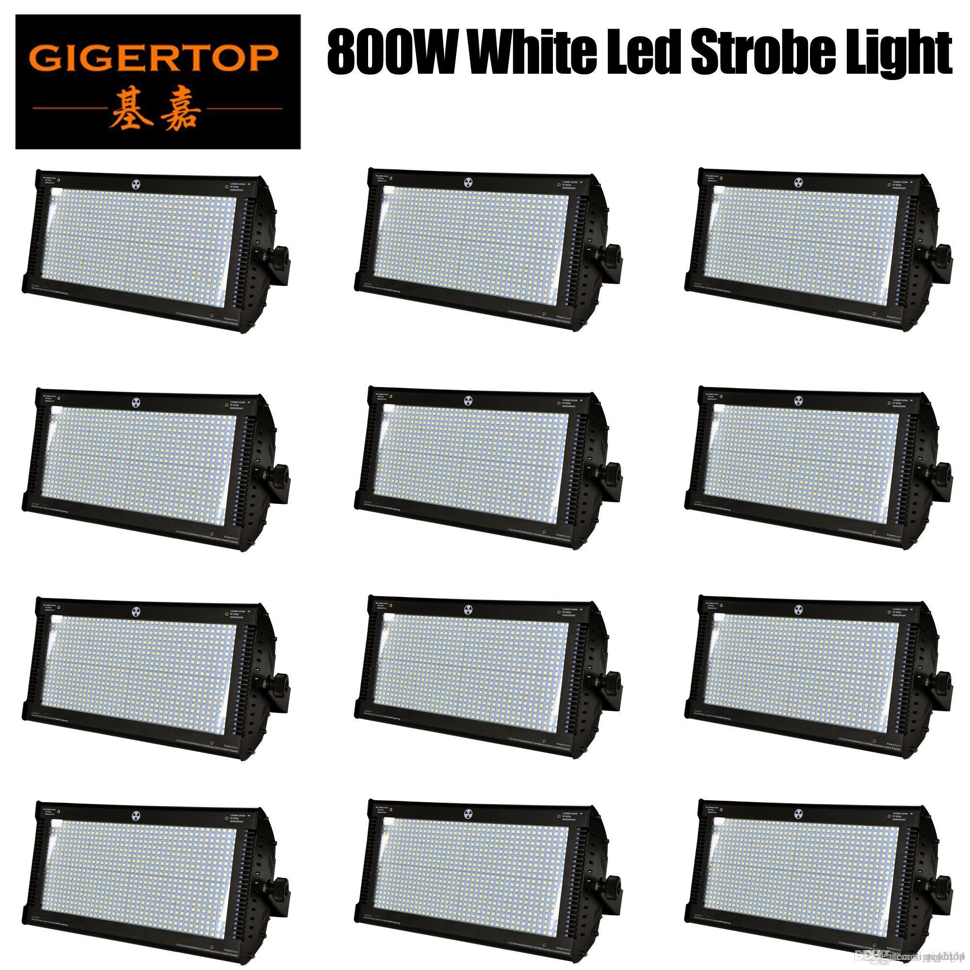 İndirim Fiyatı 12 Adet 800W Beyaz Renk DMX Led Strobe Işık Martin Strobe Flaş Işığı Stroboscope Sahne Efekti Işık