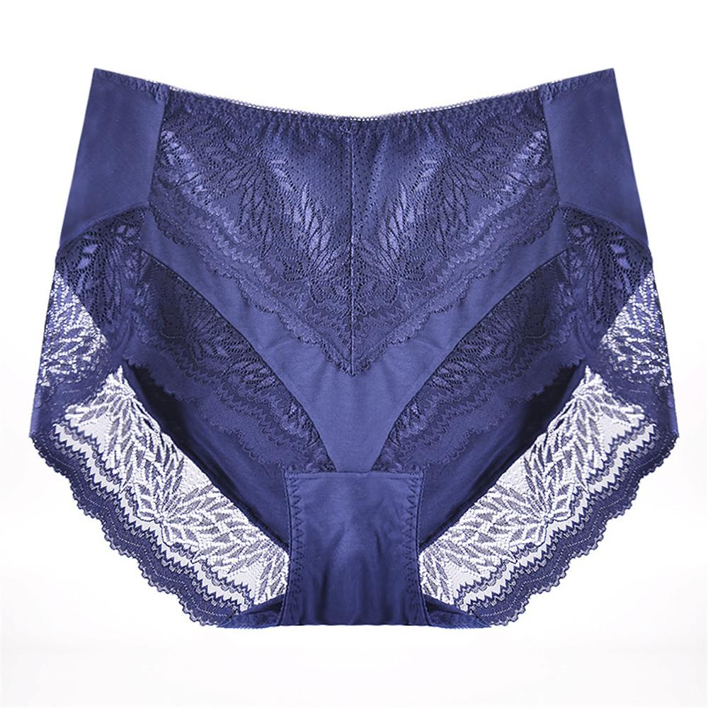 French Romantic 2019 Seamless Underwear Women Intimates High Waist Lace Underpants Non-trace Sexy Briefs Big Size