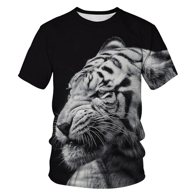 2019 новый летний дизайнер мужской футболки дышащий о-образным вырезом 3d печатных животных роскошные футболки мужская одежда смешные тигровые шорты плюс размер топы