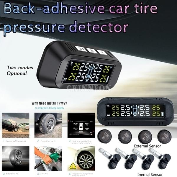 Pressão 20pcs / Lot Tire Monitoring System Automotive Car Solar sem fio Temperatura Segurança Alarme Tire Pressure Monitor de Sensor