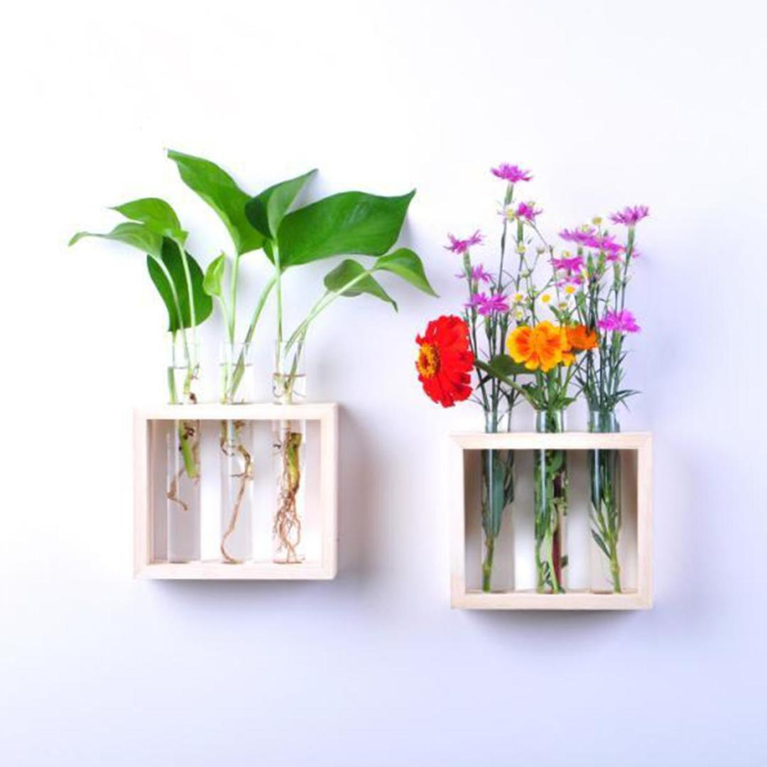 인 유리 물 테스트 튜브 꽃병 테이블 / 벽 공장 냄비 나무는 꽃이 컨테이너 식물 꽃병 홈 룸 카페 장식 병 스탠드 매달려