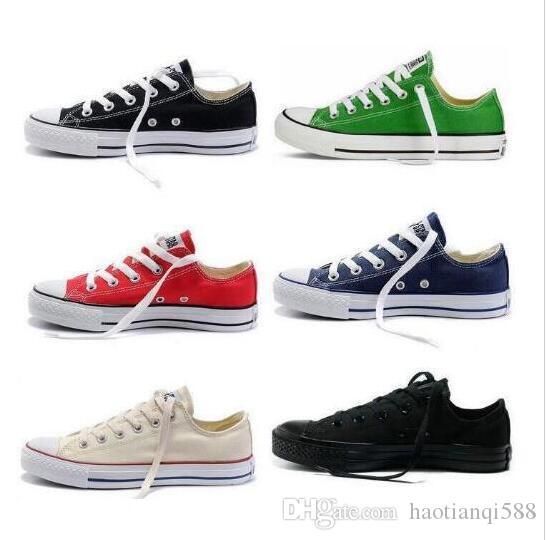 Preis der Fabrik fördernder Preis! SIZE 35-45 Schuhe Frauen und Männer niedrige Art klassische Segeltuch-Schuh-Turnschuh-Segeltuch-Schuh-Männer Frauen beiläufige