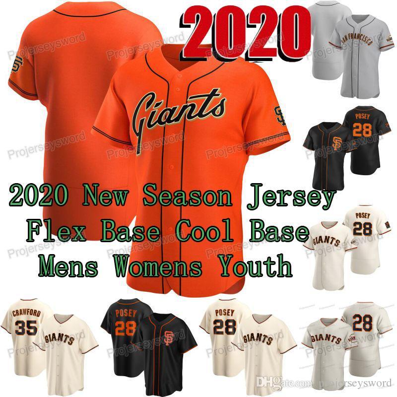 San Francisco 2020 Buster 28 Posey Jersey Mauricio Dubon Zack Cozart Kean Wong Joe McCarthy Burch Smith Trevor Oaks Tyler Anderson Maillots
