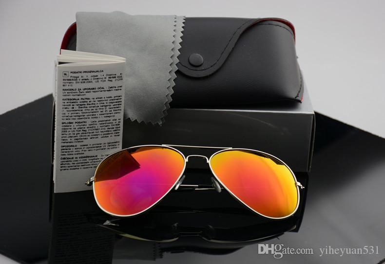 Occhiale da sole polarizzato di alta qualità Pilot Occhiali da sole fashion per uomo e donna Occhiali da sole vintage da uomo firmati con cassa e astuccio