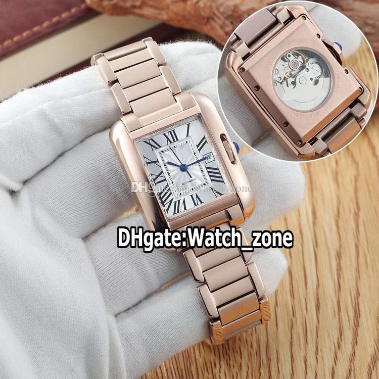 Nouveau 30mm W5310003 Whtie Dial Anglaise Asian 2813 Femmes Montre automatique Bracelet en acier or rose de haute qualité Lday Montres Watch_zone.